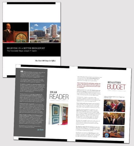 City of Bridgeport book and brochure production