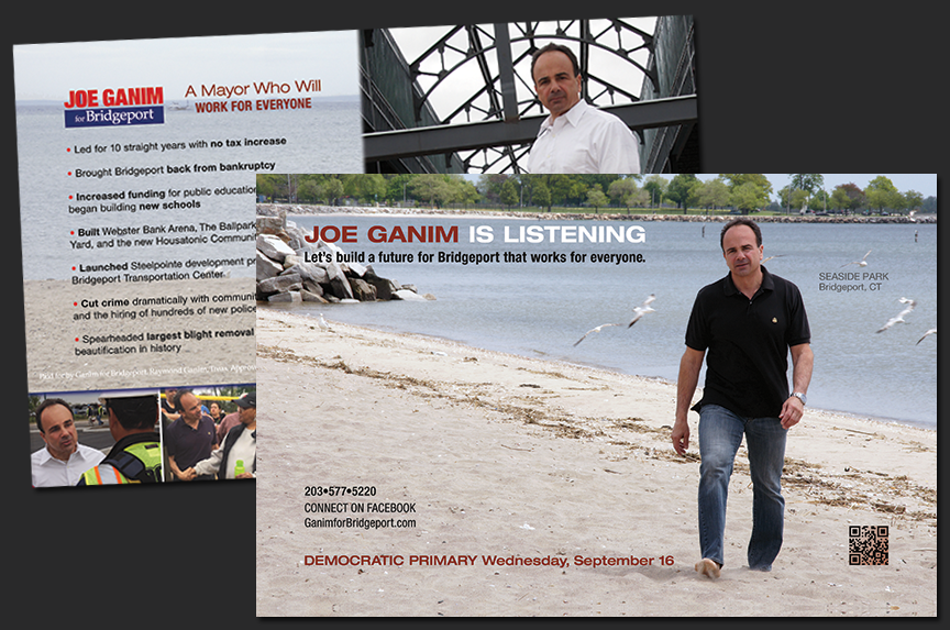political campaign walking field literature Joe Ganim