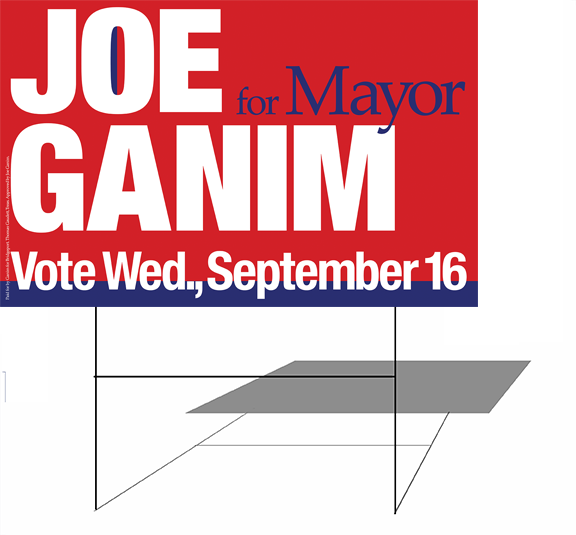 political campaign lawn sign Joe Ganim