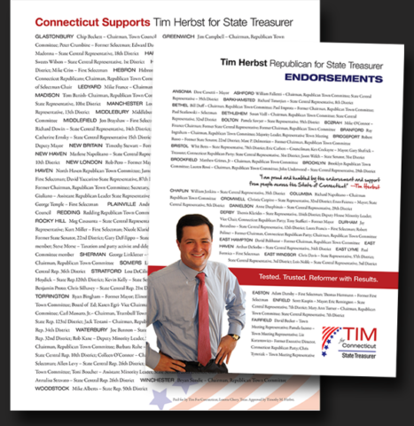 political campaign convention literature Tim Herbst