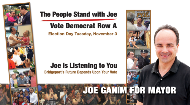 political campaign walk card Joe Ganim